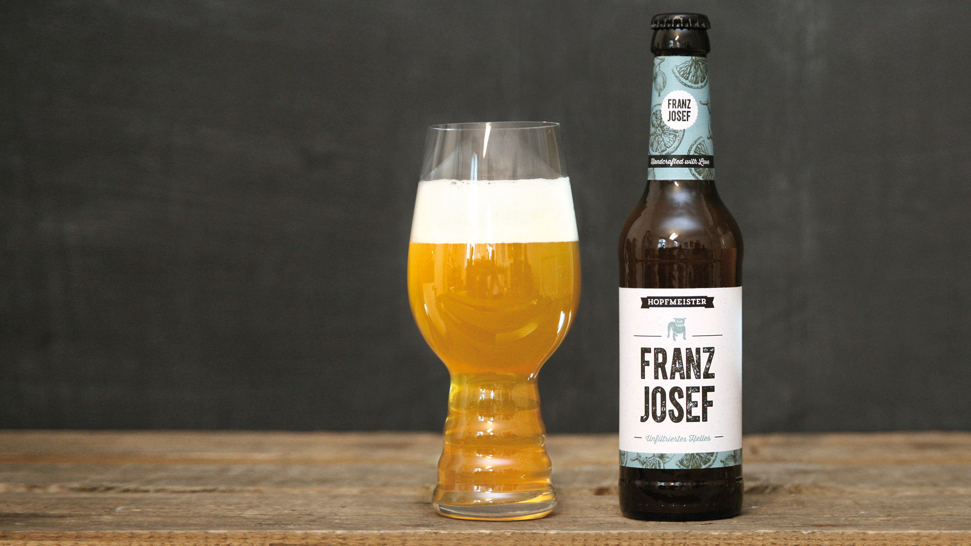 Hopfmeister Franz Josef Bier im Glas